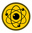 Atom button vector image