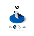 Ax icon in different style vector image vector image