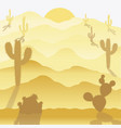 background of a desert vector image