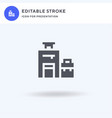 baggage icon filled flat sign solid vector image vector image