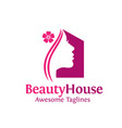 beauty house logo vector image