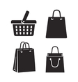 black shopping bag vector image