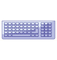 blue shading silhouette of computer keyboard vector image vector image