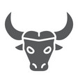 buffalo glyph icon animal and zoo cattle sign vector image vector image