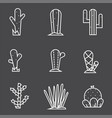 cactus icon set collection exotic plants vector image vector image