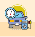 car maintenance electrical service speedometer vector image vector image