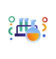 chemists scientists equipment education concept vector image