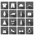 Clothes accessories shoes icons set vector image vector image