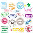 club music stamps vector image vector image