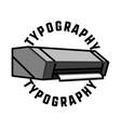 color vintage typography emblem vector image vector image