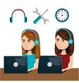 customer service agent working online vector image vector image