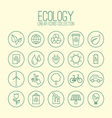 Eco Linear Icons Collection vector image