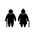 elder people icon in flat style old men simbol vector image