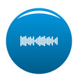 equalizer sound icon blue vector image vector image