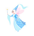 fairy tales character cartoon woman in dress vector image vector image