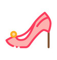 female shoe icon outline vector image vector image