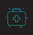 first aid box icon design vector image