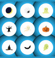 flat icon celebrate set of phantom terrible vector image vector image