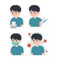 flu disease symptoms vector image