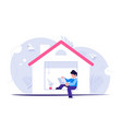 freelance concept people works from home during vector image vector image