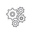 gear wheel line icon concept gear wheel vector image vector image