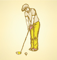 Golfist vector image vector image