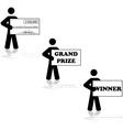 grand prize winner vector image vector image