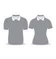 gray polo shirt outline vector image vector image