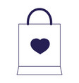 happy valentines day shopping bag heart love vector image vector image