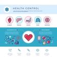 Health control technology medicine healthcare vector image vector image