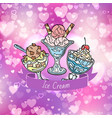 ice cream with delicious vector image