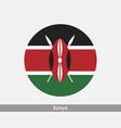 kenya round circle flag vector image