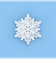 layered paper cut art snowflake icon snow vector image vector image
