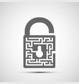 lock icon symbol with keyhole and a maze vector image