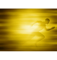 Man running for gold vector image vector image