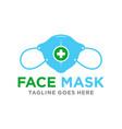 medical mask modern logo vector image