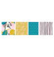 modern creative fabric swatches geometric vector image vector image