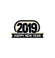 new year unusual label 2019 year symbol vector image vector image