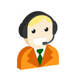 operator avatar customer support symbol flat
