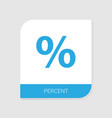 percent icon white background vector image vector image