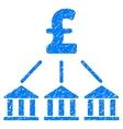 Pound Bank Association Grainy Texture Icon vector image vector image