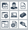 programming and software development icons set vector image