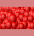 red balloon background vector image vector image