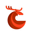 red deer round icon vector image