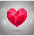 red triangle heart 14 february mothers day vector image