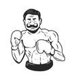 retro style boxer vector image