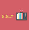 retro television with word page not found vector image vector image