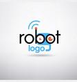 robot logo template vector image vector image