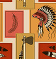 seamless pattern american indians symbols vector image