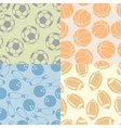 seamless patterns sport icons vector image vector image